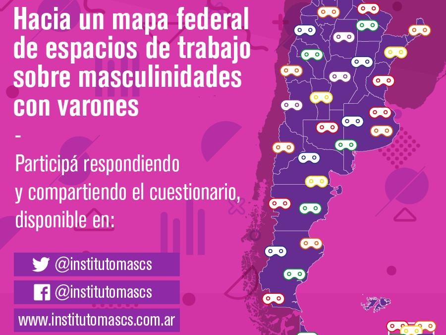 Relevamiento de espacios de trabajo sobre masculinidades con varones en Argentina.